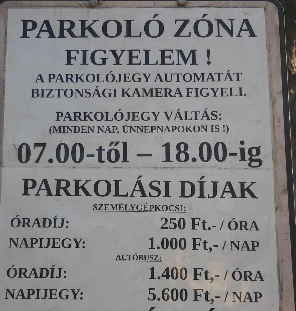 Parkolási díjak Dömös