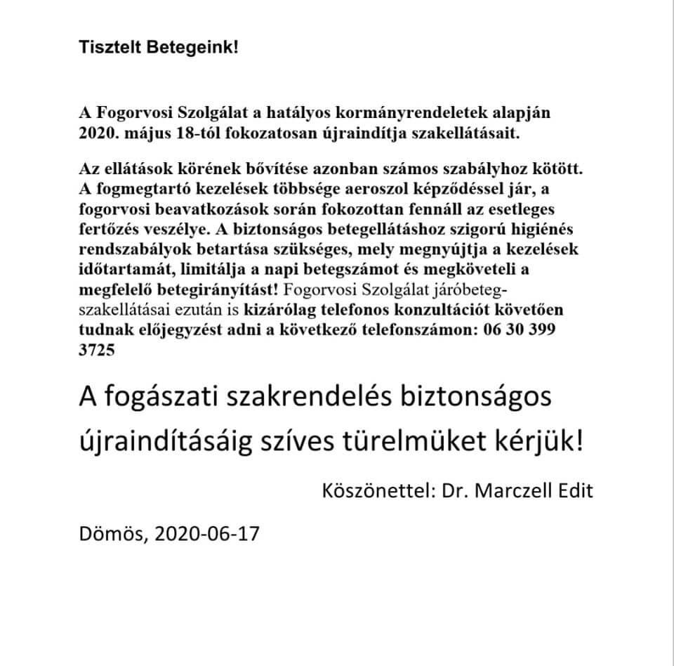 Fogorvos 2020-06-17