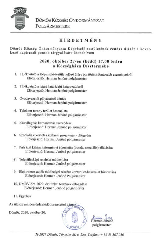 Képviselő-testületi ülés 2020.06.30.