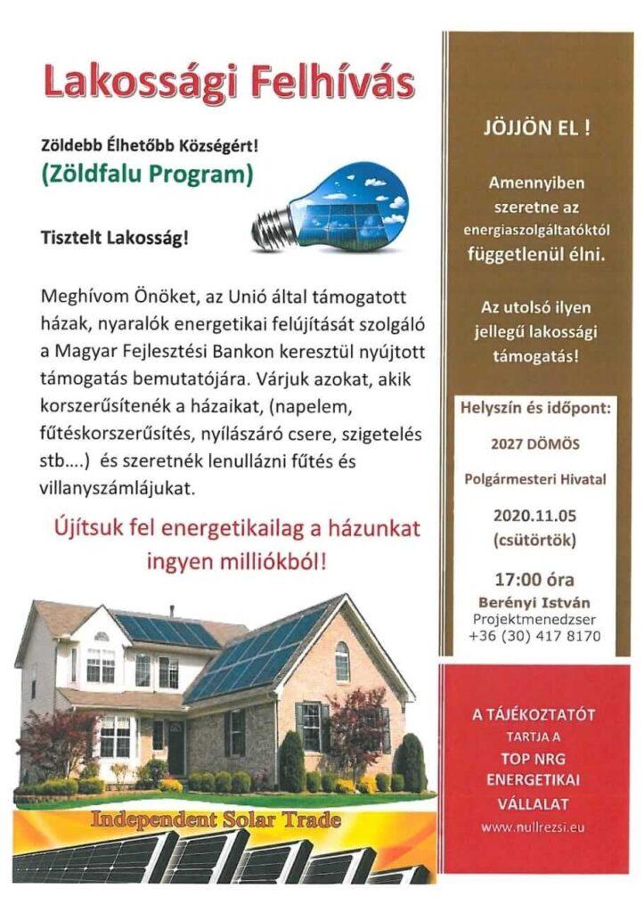 Zöldfalu program