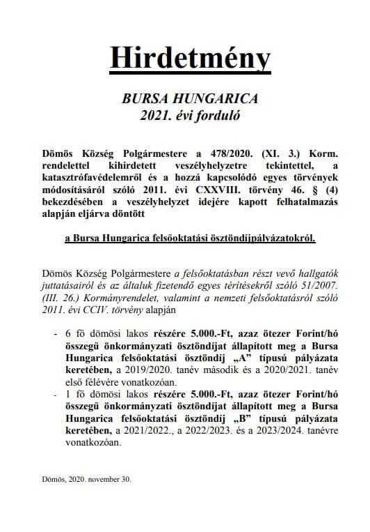 Barsa Hungarica 2021